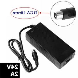 24V 2A RCA scooter charger for electric skateboard golf cart