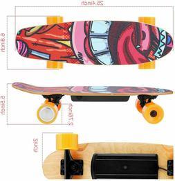 WOOKRAYS 25 Inch Electric Skateboard Standard Skateboard+Wir