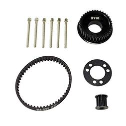 36 Teeth Drive Pulley Kit Flywheel Parts 12mm Belt Motor Gea