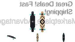 39 inch drop through freestyle longboard skateboard