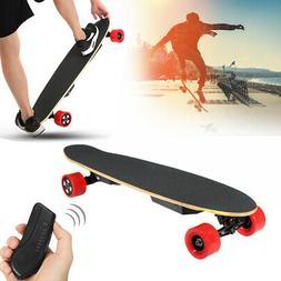 48km/h 700W Electric Skateboard Dual Motor Longboard Remote