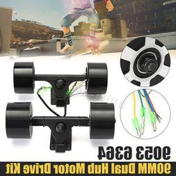 550W 90mm Electric Skateboard Longboard Kit Dual 6364 Hub Mo