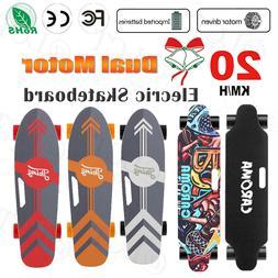 7/8 Maple Deck Dual Motor Electric Skateboard Adults Longboa