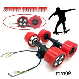 90MM 6364 Dual Hub Motor Drive Wheel Kit For Electric Skateb