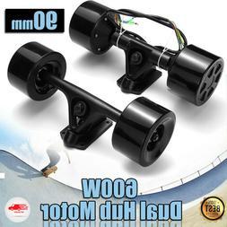 90mm Powered Dual 6364 Hub Motor Drive For DIY Electric Skat