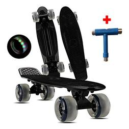 "Loadshine 22"" Complete Mini Cruiser Skateboard with Colorful"