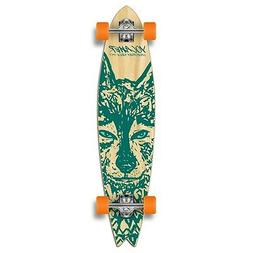 Yocaher Fishtail Longboard Complete - Spirit Animal WOLF