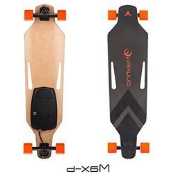 "Maxfind Electric Longboard Skateboard 38"" 16.8 mph 8 Miles M"
