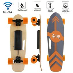 Mini Electric Skateboard 350W Motor Longboard Board Wireless