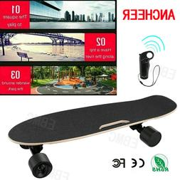 ANCHEER Electric Skateboard Dual Motor Longboard Wireless w/
