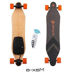 Maxfind Electric Longboard Skateboard 18.6 mph Hub Brush Mot