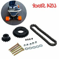 Electric Skateboard Replace Parts Sprocket Chain Wheel DIY S