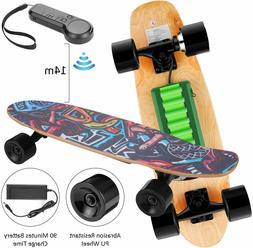 WOOKRAYS Electric Skateboard+Wireless Remote Contro,350W Max