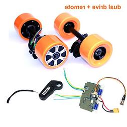 L-faster Electronic Longboard Hub Motor Kit Skateboard Brush