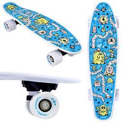 Street Surfing Fizz Fun Board, Designer Skateboard. Compact