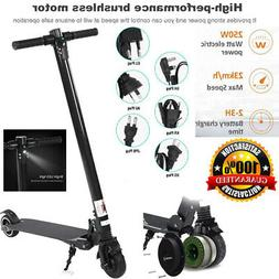 Folding Electric Scooter Portable Black E-Scooter for Adult&