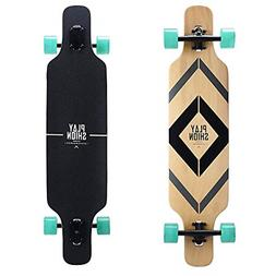Playshion Freeride Freestyle Drop Through Longboard Skateboa