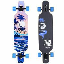 Playshion Freeride Freestyle Drop Through Longboard Skateboa