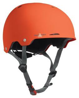 Triple Eight Gotham Rubber Helmet, Orange, Large/X-Large