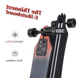 "Teamgee H5 37"" Electric Skateboard 22MPH Speed 760W Dual Mot"