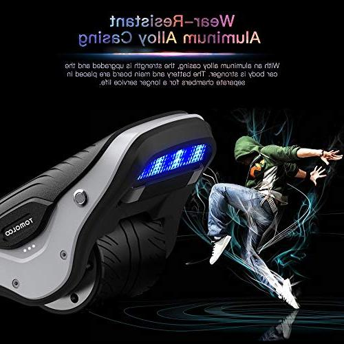 TOMOLOO 2 in Spacewalker Skate LED Lights,250W Self Scooter Kids and Adults, One Wheel Skating, 12km/h