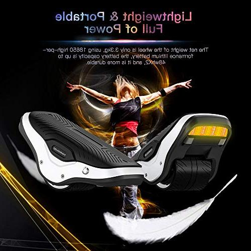 TOMOLOO 2 in Spacewalker Skate Hover with LED Lights,250W Self Balancing Scooter Kids Wheel Hovershoes for