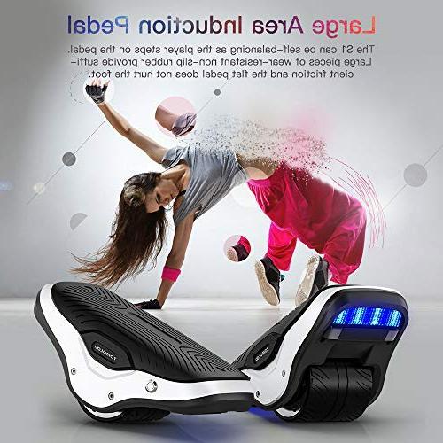 TOMOLOO in Spacewalker S1 Electric Roller Skate Board LED Lights,250W Dual Self Kids Skating, 12km/h