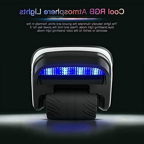 TOMOLOO in Spacewalker Skate Hover LED Lights,250W Dual Motor Self Balancing Kids Wheel Hovershoes