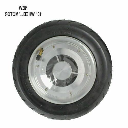 "10"" Replacement Wheel Rim Tire Electric Motor SKATE BOARD Sc"