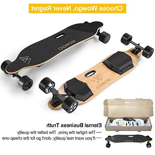 WOWGO Electric 38Km/H Speed, Max 25%-30%, Longboard Remote Control