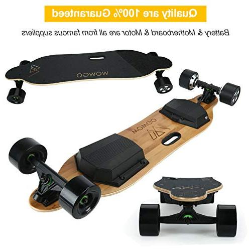 WOWGO Skateboard, 38Km/H Speed, Load 280 25%-30%, with Remote