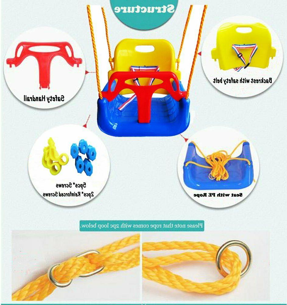 3-in-1 Swing Set for