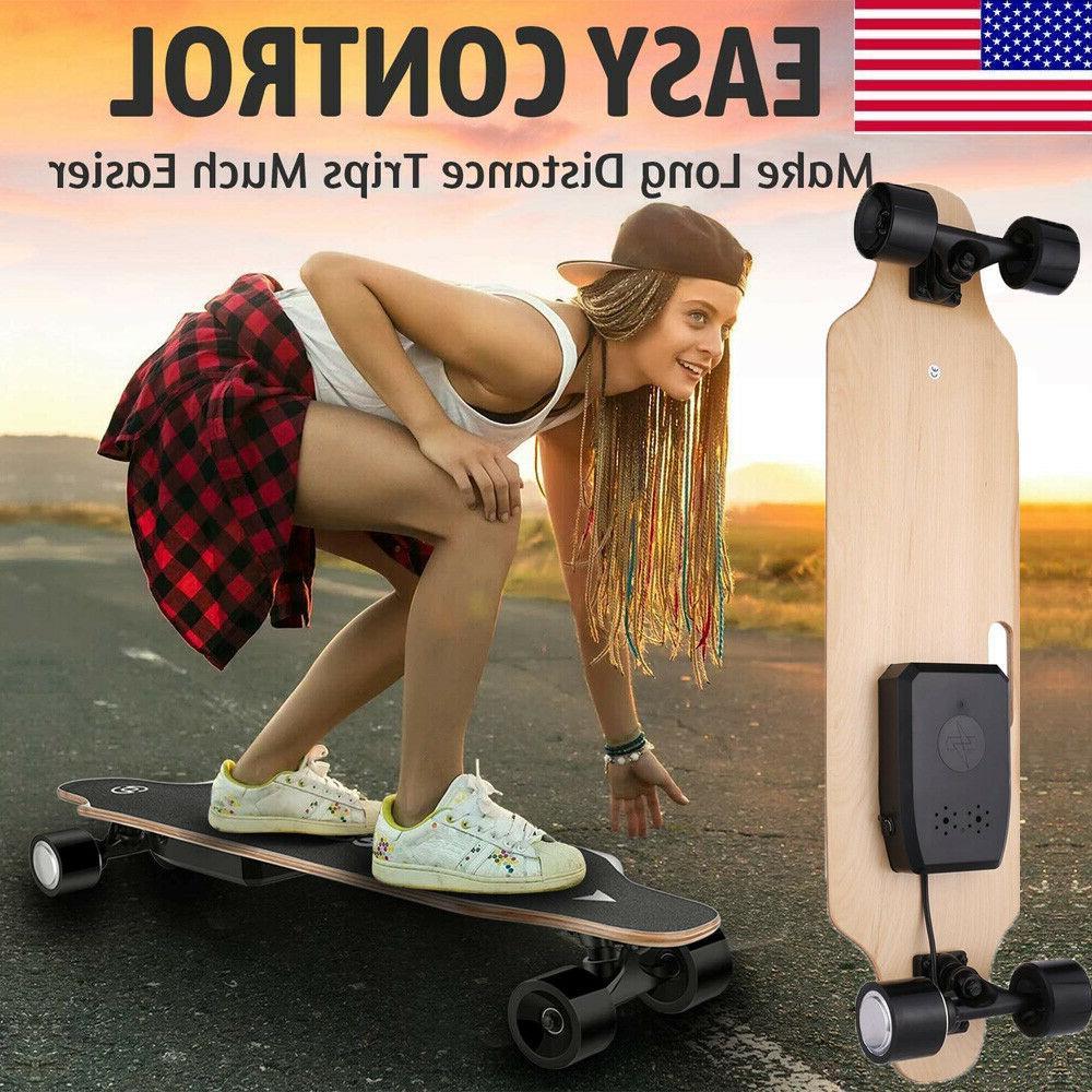 "35"" Electric Skateboard 350W Longboard Remote Control Crusier US"