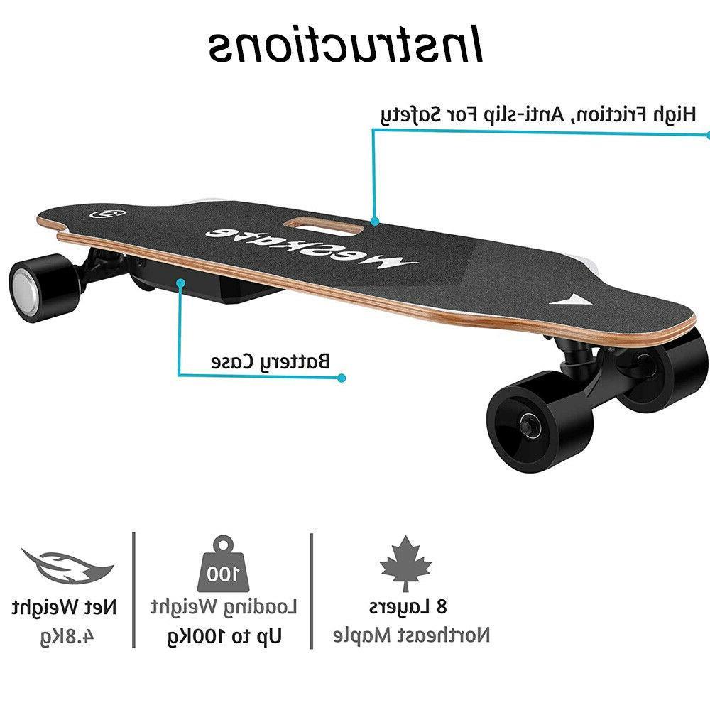"35"" Electric Skateboard 350W Longboard Control Crusier Stock"
