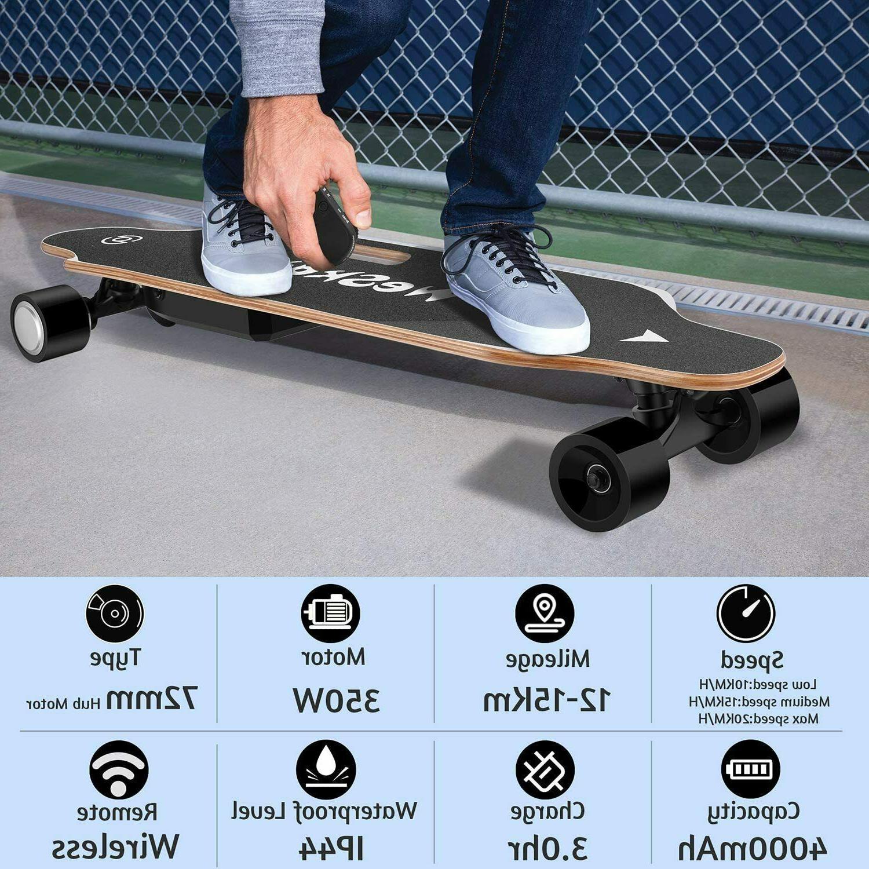 "WeSkate 35"" Electric Longboard with 350W"