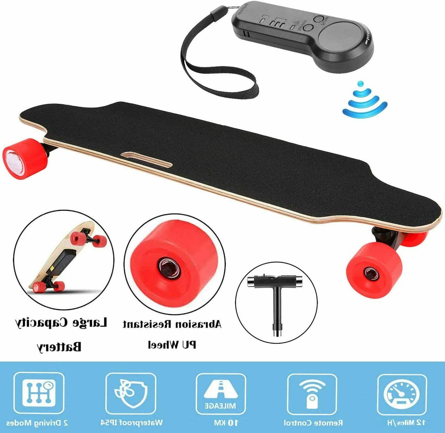 Aceshin Electric Skateboard Maple Board Wireless +Remote Controller