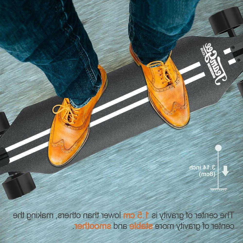 new 37 blade electric skateboard with drop