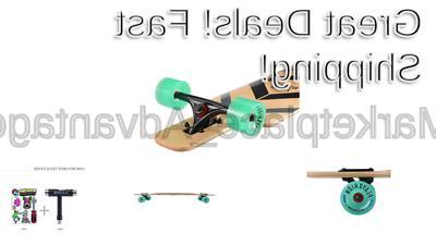 Playshion 39 Through Freestyle Longboard Skateboard Cruiser