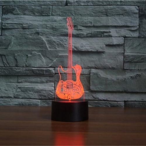 3d electric guitar night light