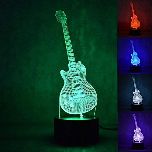 3d music electric guitar night