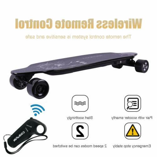 4 Wheels Skateboard Remote Control 32km/h Top Speed 400W