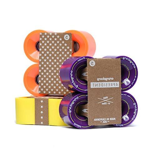 Orangatang 4 President 70 mm 80a Longboard Skateboard Wheels w/Loaded