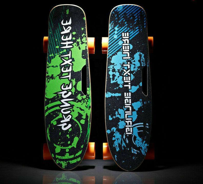 4 wheels electric skateboard single hub motor