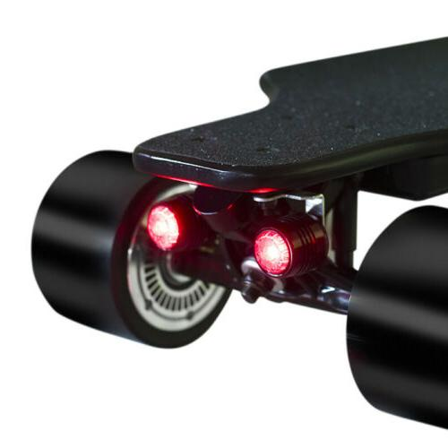 4PCS Electric Skateboard LED Lights Waterproof Riding Safety Lamp