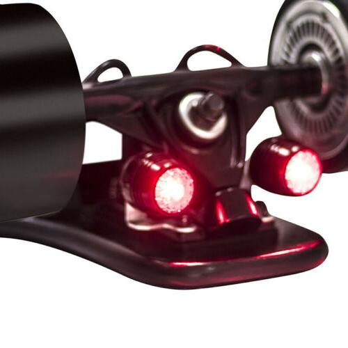 4pcs electric skateboard warning led lights waterproof