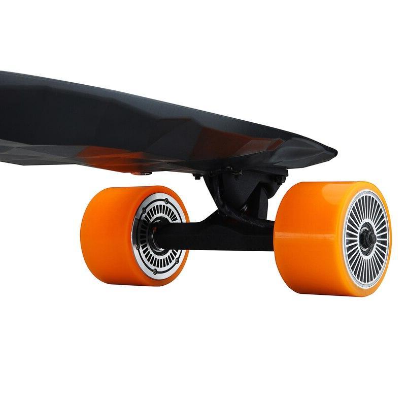 500W Powerful <font><b>Skateboard</b></font> 4-wheel E-Scooter Adult Longboard <font><b>Electric</b></font> Skate Wireless Remote Controller