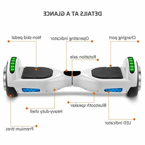 """6.5"""" Scooter Hover Board 500W UL BT"""