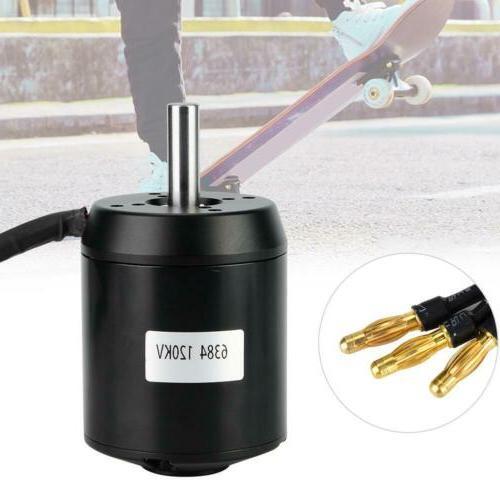 6384 Brushless Outrunner Sensored Motor 120KV 4600W For Elec