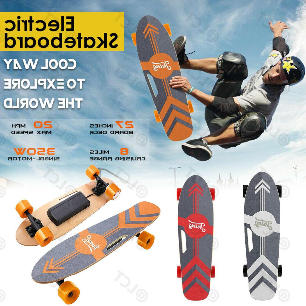 7/8 Maple Deck Dual Motor Skateboard Longboard Crusier +