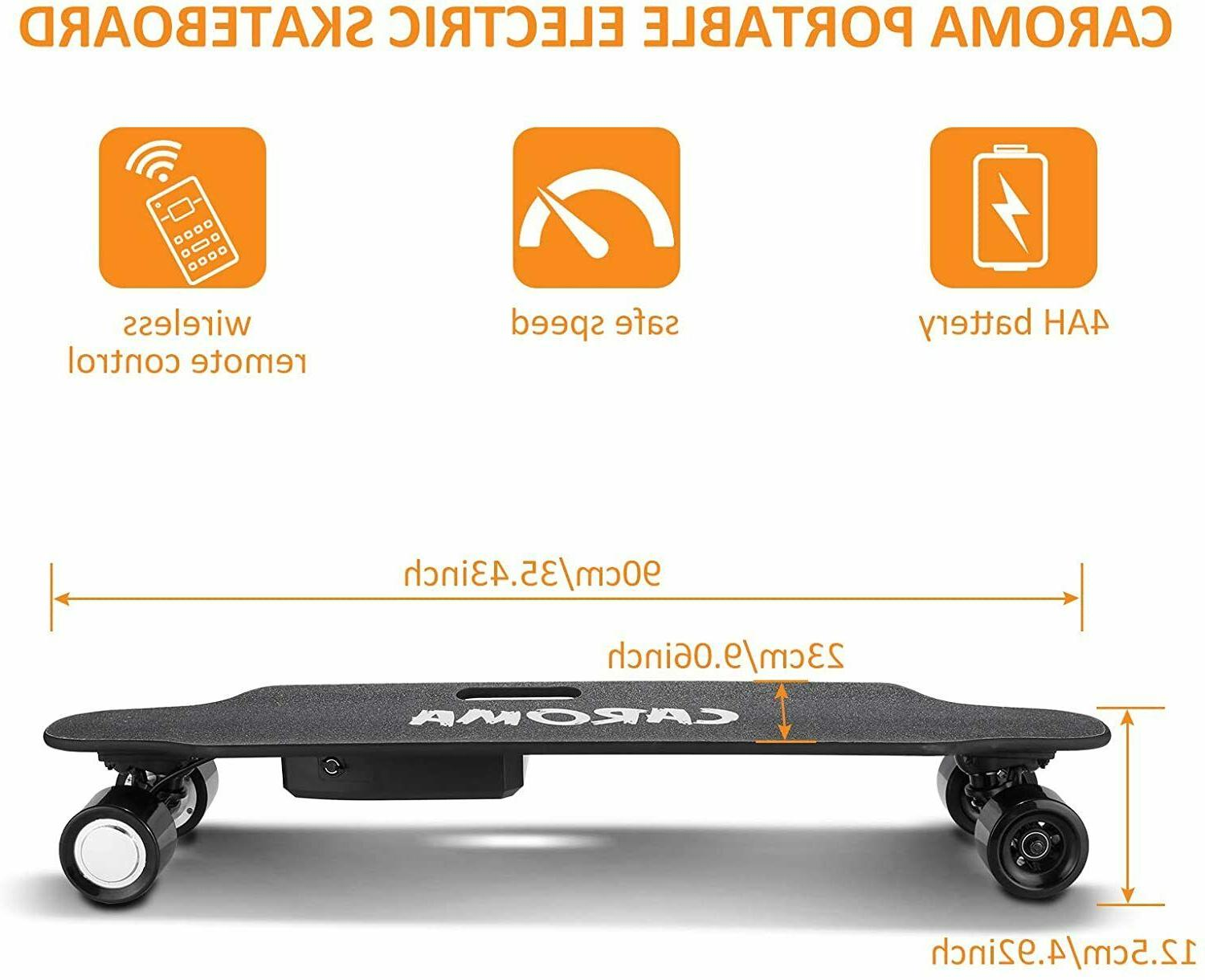 700W Dual Motors 36'' Electric Skateboard With Remote Control